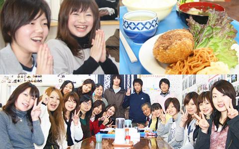 在校生も卒業生も集合!最後のお別れお食事を楽しみます